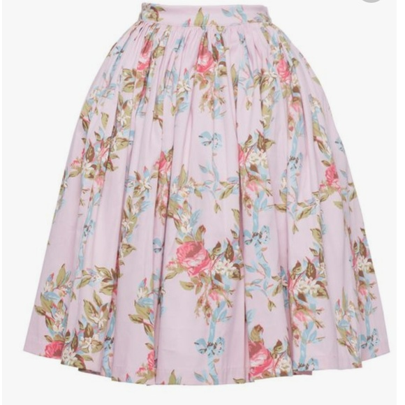 Pinup Couture Dresses & Skirts - Pinup Couture Jenny Skirt in Floral Ribbon Print L